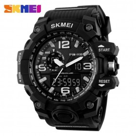 SKMEI Jam Tangan Analog Digital Pria - AD1155 - Black White
