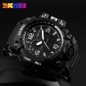SKMEI Jam Tangan Analog Digital Pria - AD1155 - Black White - 3
