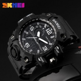 SKMEI Jam Tangan Analog Digital Pria - AD1155 - Black White - 4