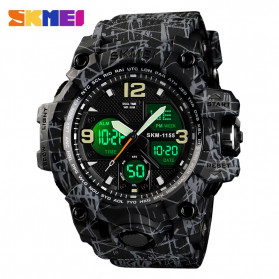 SKMEI Jam Tangan Analog Digital Pria - AD1155 - Black/Gray