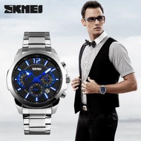 SKMEI Jam Tangan Analog Pria - 9108CS - White/Silver - 3