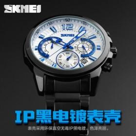 SKMEI Jam Tangan Analog Pria - 9108CS - White/Silver - 6