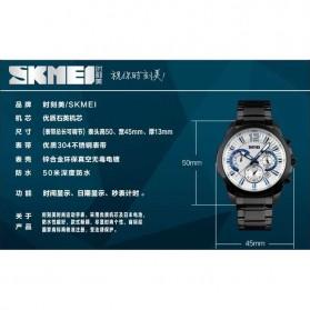 SKMEI Jam Tangan Analog Pria - 9108CS - Silver Black - 7