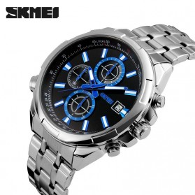 SKMEI Jam Tangan Analog Pria - 9107CS - Silver Black - 2