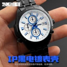 SKMEI Jam Tangan Analog Pria - 9107CS - Silver Black - 4