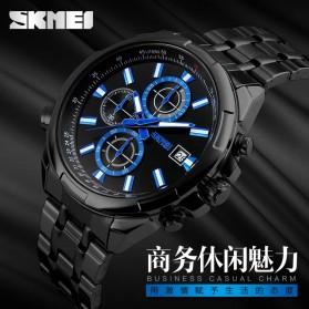 SKMEI Jam Tangan Analog Pria - 9107CS - Silver Black - 6