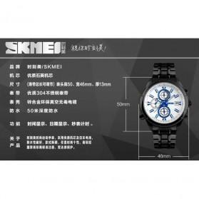SKMEI Jam Tangan Analog Pria - 9107CS - Silver Black - 7