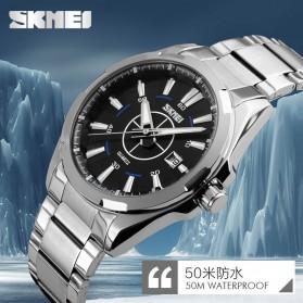 SKMEI Jam Tangan Analog - 9118CS - Silver/Gold - 5