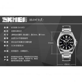 SKMEI Jam Tangan Analog - 9118CS - Silver/Gold - 7