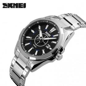 SKMEI Jam Tangan Analog - 9118CS - Silver Black - 2