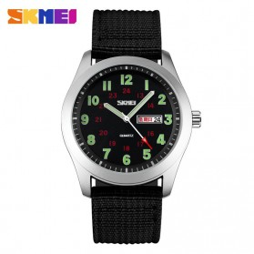 SKMEI Casual Men Army Strap Watch Water Resistant 30m - 9112C - Black