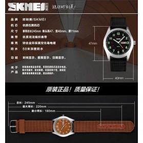 SKMEI Jam Tangan Analog Pria - 9112C - Black - 7