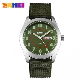 SKMEI Casual Men Army Strap Watch Water Resistant 30m - 9112C - Green