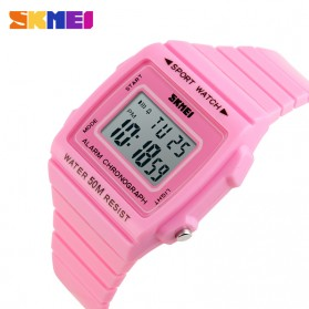SKMEI Silicone Sport Watch Water Resistant 50m - DG1136 - Pink