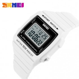 SKMEI Silicone Sport Watch Water Resistant 50m - DG1136 - White