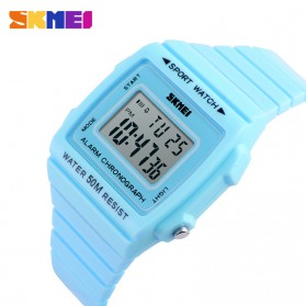SKMEI Silicone Sport Watch Water Resistant 50m - DG1136 - Blue