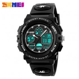 SKMEI Jam Tangan Analog Digital Pria - AD1163 - Black White