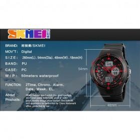 SKMEI Jam Tangan Digital Analog Pria - AD1198 - Black White - 4