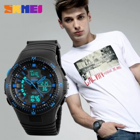 SKMEI Jam Tangan Digital Analog Pria - AD1198 - Black Blue - 2