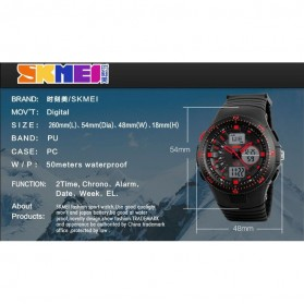 SKMEI Jam Tangan Digital Analog Pria - AD1198 - Black Blue - 4
