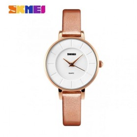 SKMEI Casual Women Leather Strap Watch Water Resistant 30m - 1178CL - Champagne Gold