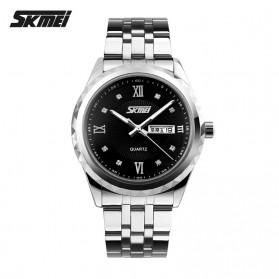 SKMEI Jam Tangan Analog Pria - 9100CS - Black