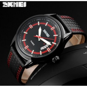 SKMEI Jam Tangan Analog Pria - 9116CL - Red - 7