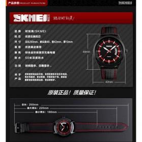 SKMEI Jam Tangan Analog Pria - 9116CL - Red - 9