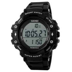 SKMEI Casio Men Sport LED Watch Water Resistant 50m - DG1128S - Black