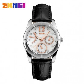 SKMEI Casual Women Leather Strap Watch Water Resistant 30m - 6911CL - Black