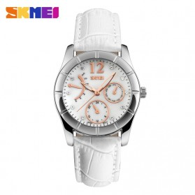 SKMEI Casual Women Leather Strap Watch Water Resistant 30m - 6911CL - White