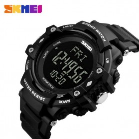 SKMEI Sport Watch Pedometer Heart Rate Tracking Water Resistant - DG1180S - Black