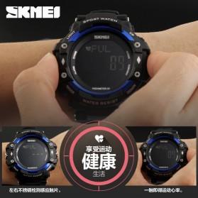 SKMEI Jam Tangan Olahraga Pedometer Heart Rate - DG1180S - Black - 2