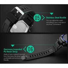 SKMEI Jam Tangan Olahraga Pedometer Heart Rate - DG1180S - Black - 5