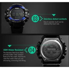 SKMEI Jam Tangan Olahraga Pedometer Heart Rate - DG1180S - Black - 6