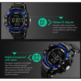 SKMEI Jam Tangan Olahraga Pedometer Heart Rate - DG1180S - Black - 7