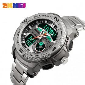 SKMEI Jam Tangan Analog Digital Pria - AD1121 - Silver - 4