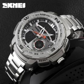 SKMEI Jam Tangan Analog Digital Pria - AD1121 - Silver - 5