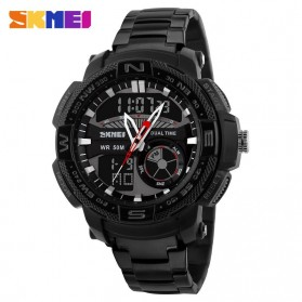 SKMEI Jam Tangan Analog Digital Pria - AD1121 - Black