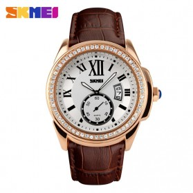 SKMEI Jam Tangan Analog Wanita - 1147CL - Coffee/Gold