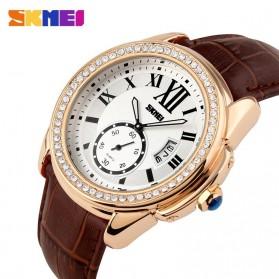 SKMEI Jam Tangan Analog Wanita - 1147CL - Coffee/Gold - 2