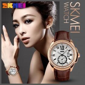 SKMEI Jam Tangan Analog Wanita - 1147CL - Coffee/Gold - 5