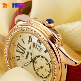SKMEI Jam Tangan Analog Wanita - 1147CL - Coffee/Gold - 6