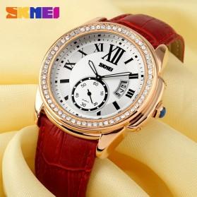 SKMEI Jam Tangan Analog Wanita - 1147CL - Coffee/Gold - 8