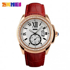 SKMEI Jam Tangan Analog Wanita - 1147CL - Red/Golden