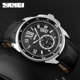 SKMEI Jam Tangan Analog Pria - 1135CL - Silver Black - 3
