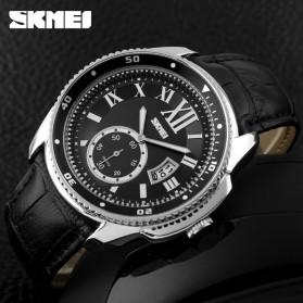 SKMEI Jam Tangan Analog Pria - 1135CL - Silver Black - 4