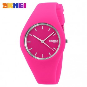 SKMEI Fashion Casual Ladies Leather Strap Watch Water Resistant 30m - 9068C - Pink