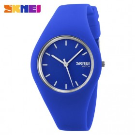 SKMEI Fashion Casual Ladies Leather Strap Watch Water Resistant 30m - 9068C - Dark Blue