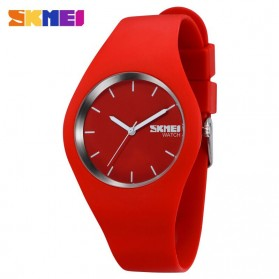 SKMEI Fashion Casual Ladies Leather Strap Watch Water Resistant 30m - 9068C - Red